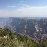 Grand Canyon from the south rim. It's a little hazy due to forest fires on the North rim.