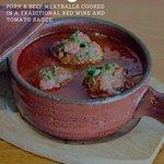 smoky albondigas meatballs