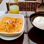 Pollo al curry rojo
