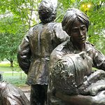 Very powerful sculpture.  The faces are captured so well.  Don't miss this on the mall, near the