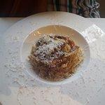 Pasta seca a la carbonato.
