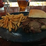 French Dip with Cajun Spiced Fries
