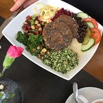 The nutty mushroom cutlet salad