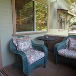 Seating area on the porch