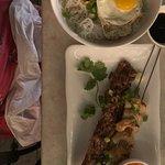 Bún bowl with pork and Shrimp