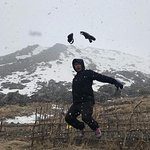 At the Top, And it snows!