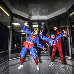iFLY Indoor Skydiving Milton Keynes , I told ya.. SUPER HERO outfits !!!!