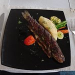 Himalayan  grilled trout as main course