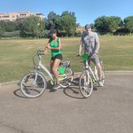 Young Couple ready to explore & have some Fun on the E Bikes !!