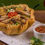 Taco salads:  Grilled chicken, ground beef, steak or shriimp.