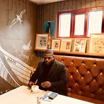 Great atmosphere and even better coffee. The owner actually import aunthenric Haitian coffee bea
