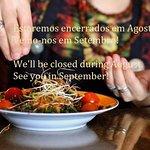 Encerrados durante Agosto | Closed during August