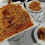 Spaghetti Astice e Granchio reale all'infinito come quantità :o