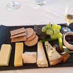 Selection of British cheeses