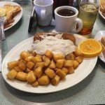 Chicken Fried Steak and home fries
