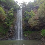 Sacred waterfall at the end of the Wailua River trail