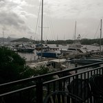 view of the marina from breakfast