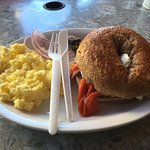 Bagel w/ Lox & eggs