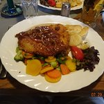 Pork schnitzel - one of the lunch selections