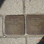 """""""Tripping stones"""" in memory of holocaust victims - in Schwerin"""