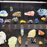 One of many gems and minerals displays