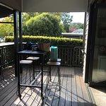 Balcony, half in the sun, half in the shade!
