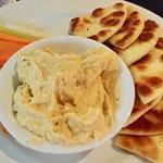 Delicious hummus plate.