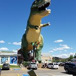 World's Largest Dinosaur, Drumheller, AB July 2018