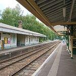 Eridge Station, Mainline to London Left, Spa Valley Railway Right