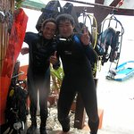 The remembrance in 10 years ago at Sea Rider (after diving)