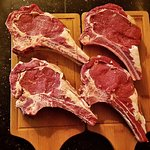 28day aged Rib-Eye on the bone from grass fed Angus/Boran. Because we're #SAS Serious About Stea