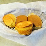 dry hard rolls and corn muffins