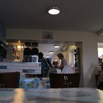 Warm, cosy little cafe