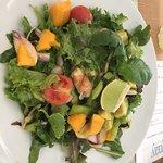 Fab mango and prawn salad
