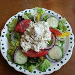 Chicken salad on greens