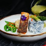Green Curry Barramundi & Butterfly Blue Pea Rice
