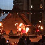 Dancers with fire
