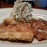 cole slaw and fish