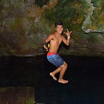 jumping in the Cenote!