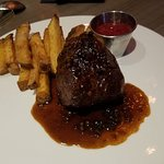 Fillet Mignon with Peppercorn Sauce, Rutabaga Fries