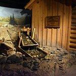 Gold mining diorama
