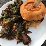 Portobello Slammer and Brussel Sprouts