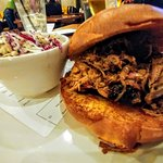 Pulled pork sandwich was delicious