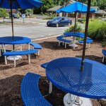 Some outdoor seating