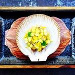 Noosa scallop, ume boshi plum, baby kabu, Osaka mustard flowers