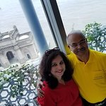Grand view from Souk overlooking Gate Way of India and Mumbai port