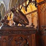 Woodcarvings in the choir loft