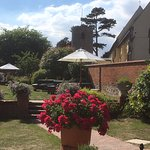 Our beautiful gardens overlooking the church