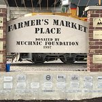 The Farmer's Market has a great mosaic as a backdrop.