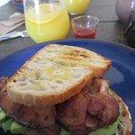 Excellent bacon and avacado sandwich